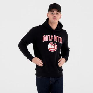 Nieuwe Era Hoodie met Atlanta Hawks Team Logo