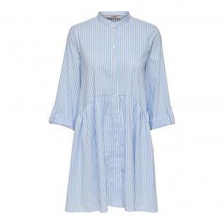 Only Ditte life streep shirt jurk 3/4 mouwen