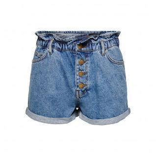 Dames jeans shorts Only Cuba life paperbag