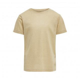 Girl's Only kinder-T-shirt korte mouwen Zilverkleurig