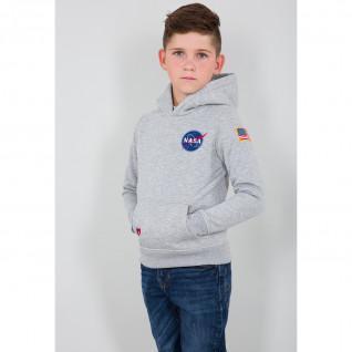 Hooded sweatshirt kid Alpha Industries Space Shuttle