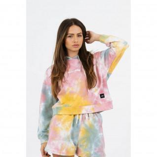 Dames sweatshirt met capuchon Sixth June tie dye