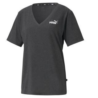 Dames-T-shirt Puma ESS V-Neck Heather