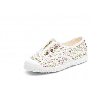 Baby canvas schoenen Cienta fleurs anglaises