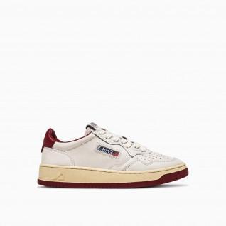 Autry Medaillewinnaar BB37 Bicolor Leder Wit/Burgundy Sneakers