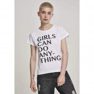 T-shirt vrouw Meneer Tee meisje kan alles doen