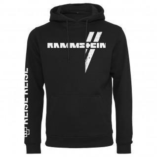 Sweatshirt met kap Rammstein rammstein weißes kreuz