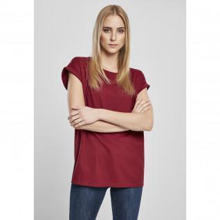 T-shirt vrouw Urban Classics organische verlengde schouder