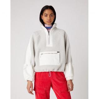 Sweatshirt vrouw Wrangler Denim Sherpa Pop Over
